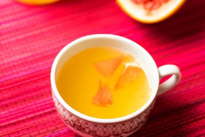Zielona herbata z grejpfrutem