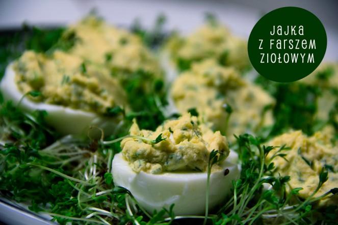 Jajka z farszem ziołowym