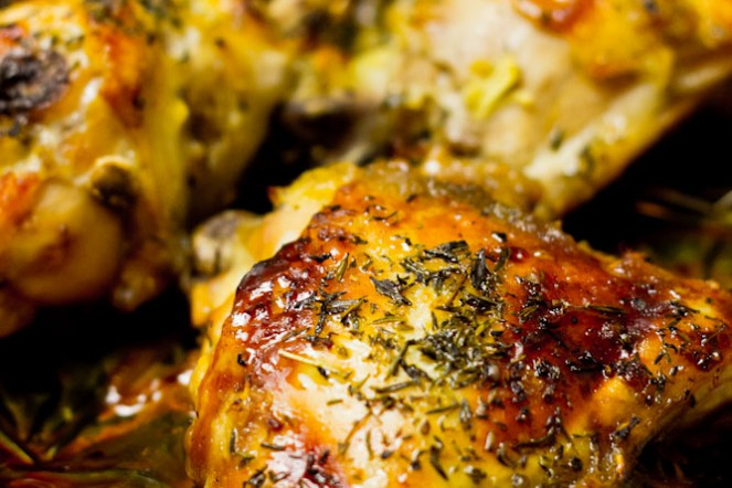 Aromatyczne udka kurczaka